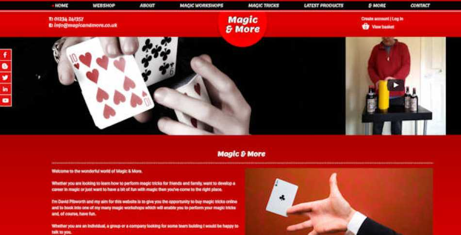 My new magic website is up and running.