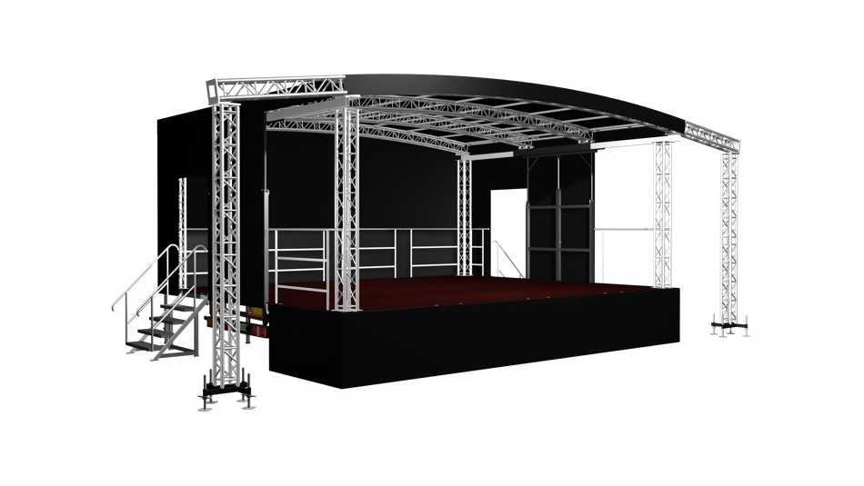 Our new stage trailer is arriving in October and it's got wings to hang advertising or speakers from!