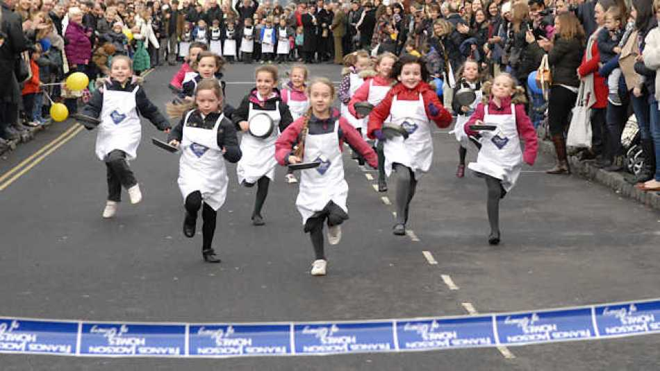 The Olney Pancake Race is fun for all ages, but there's a lot more going on than just racing.