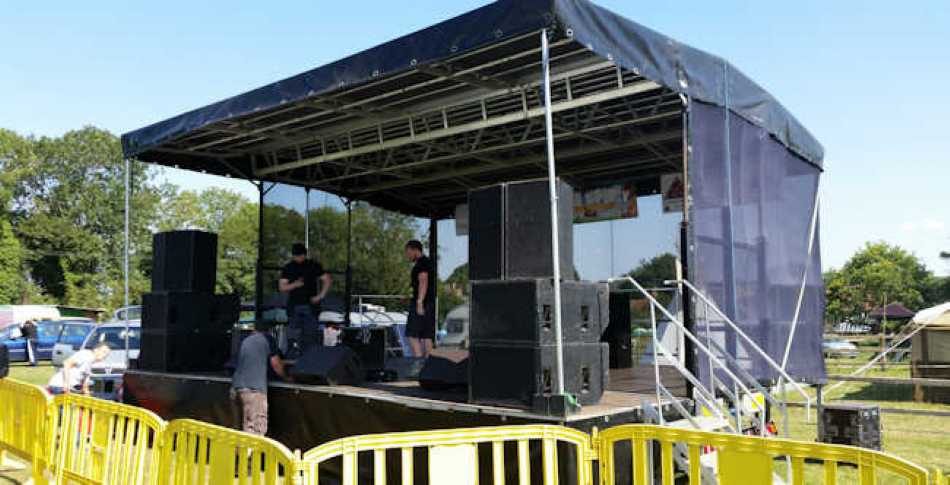 Now is the time to think about stage hire for your event or festival.